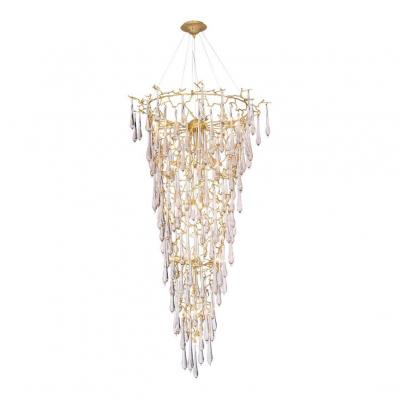 Подвесная люстра Crystal Lux Reina SP34 D1200 Gold Pearl