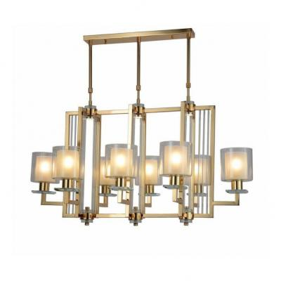 Подвесная люстра Lumina Deco Manhattan LDP 8012-8P F.GD